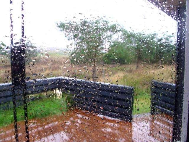 Blick aus dem Fenster uinseres Feriendomizils